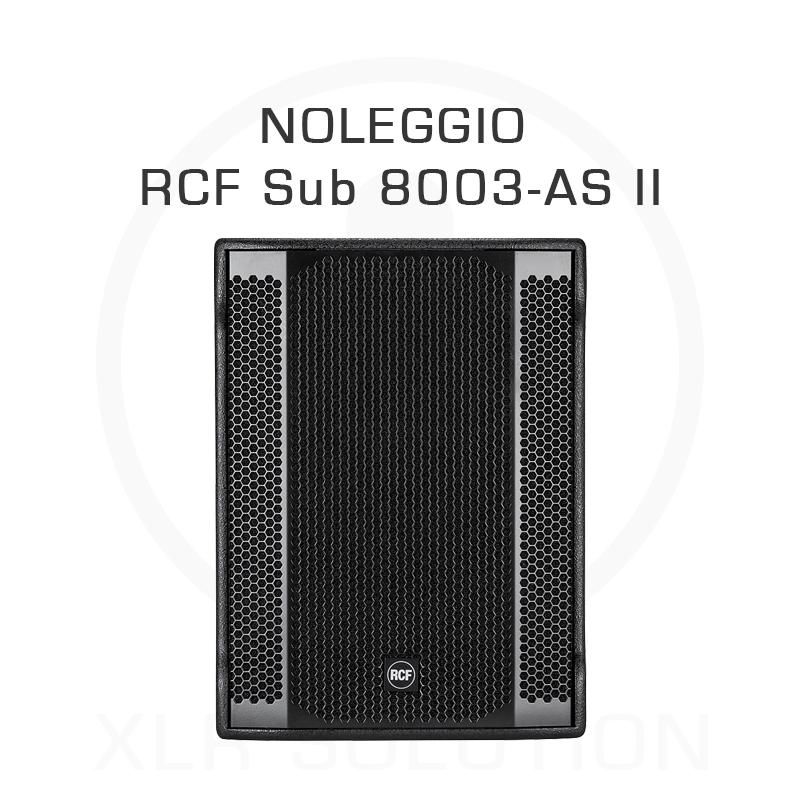 Noleggio Subwoofer RCF Sub 8003-AS II - XLR SOLUTION