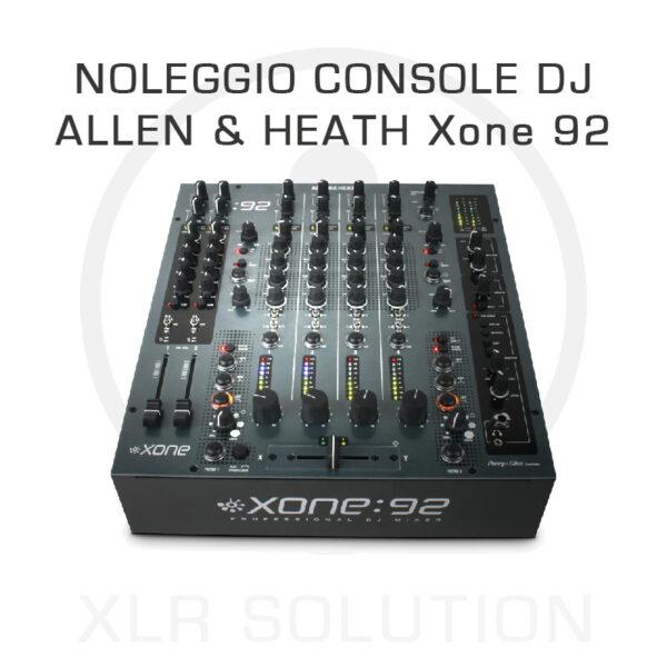 XLR SOLUTION - Noleggio Strumentazione AUDIO - ALLEN & HEATH Xone 92