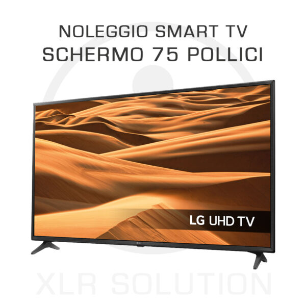 XLR SOLUTION - Noleggio Schermo 75 pollici